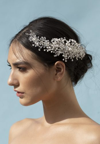 Elena designs headpiece style E963 Rhinestone and pearl comb.2